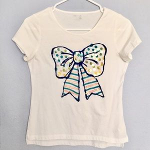 Sequin Bow Graphic Tee